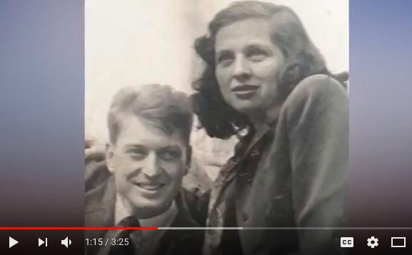 年輕時候的雷皮夫婦,他們相伴走過了近一個世紀。(視像擷圖)