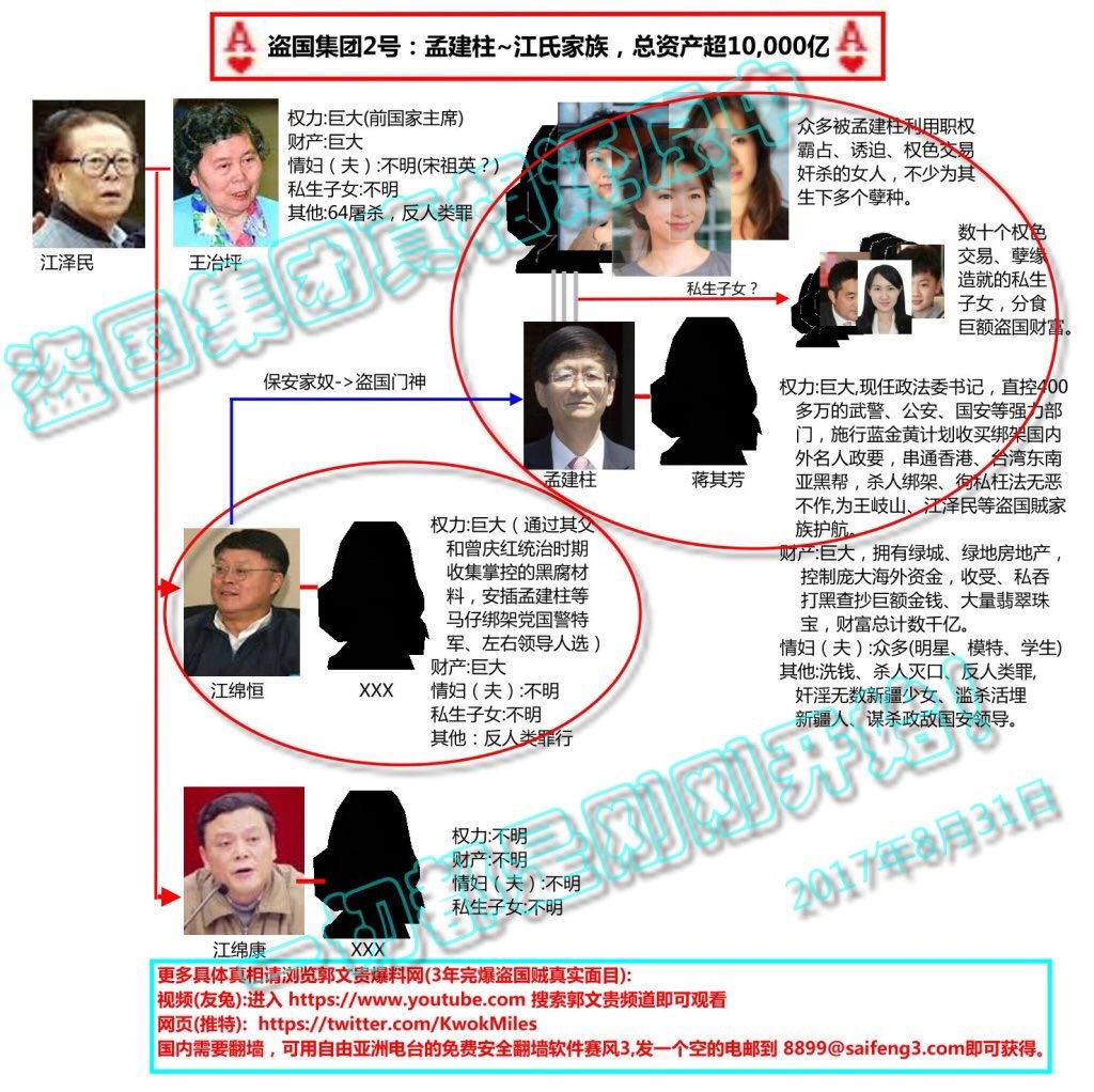 郭文貴揭露江澤民家族腐敗。(網絡圖片)