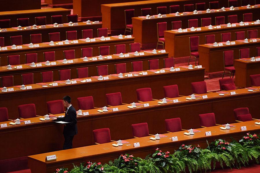 汪洋料將在3月3日召開的中共全國政會議上出任政協主席,還有二十多名副主席也將在本次政協會議上產生。(GREG BAKER/AFP/Getty Images)