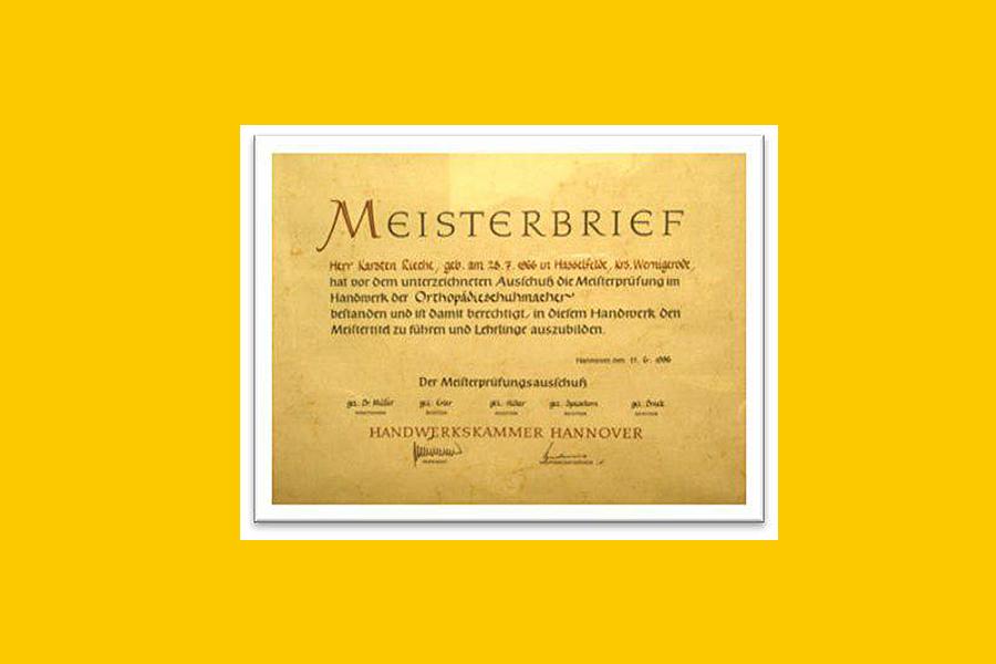 Karsten Rieche 的Meister大師級認證