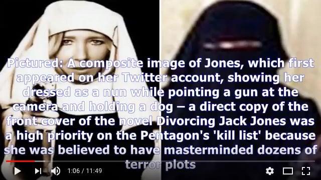 外媒10月12日報道,極端組織「伊斯蘭國」(IS)負責招募的女成員、前英國朋克樂隊成員薩莉·瓊斯(Sally Jones)據信已經在今年夏天死於美軍的一輪空襲。(視像擷圖)
