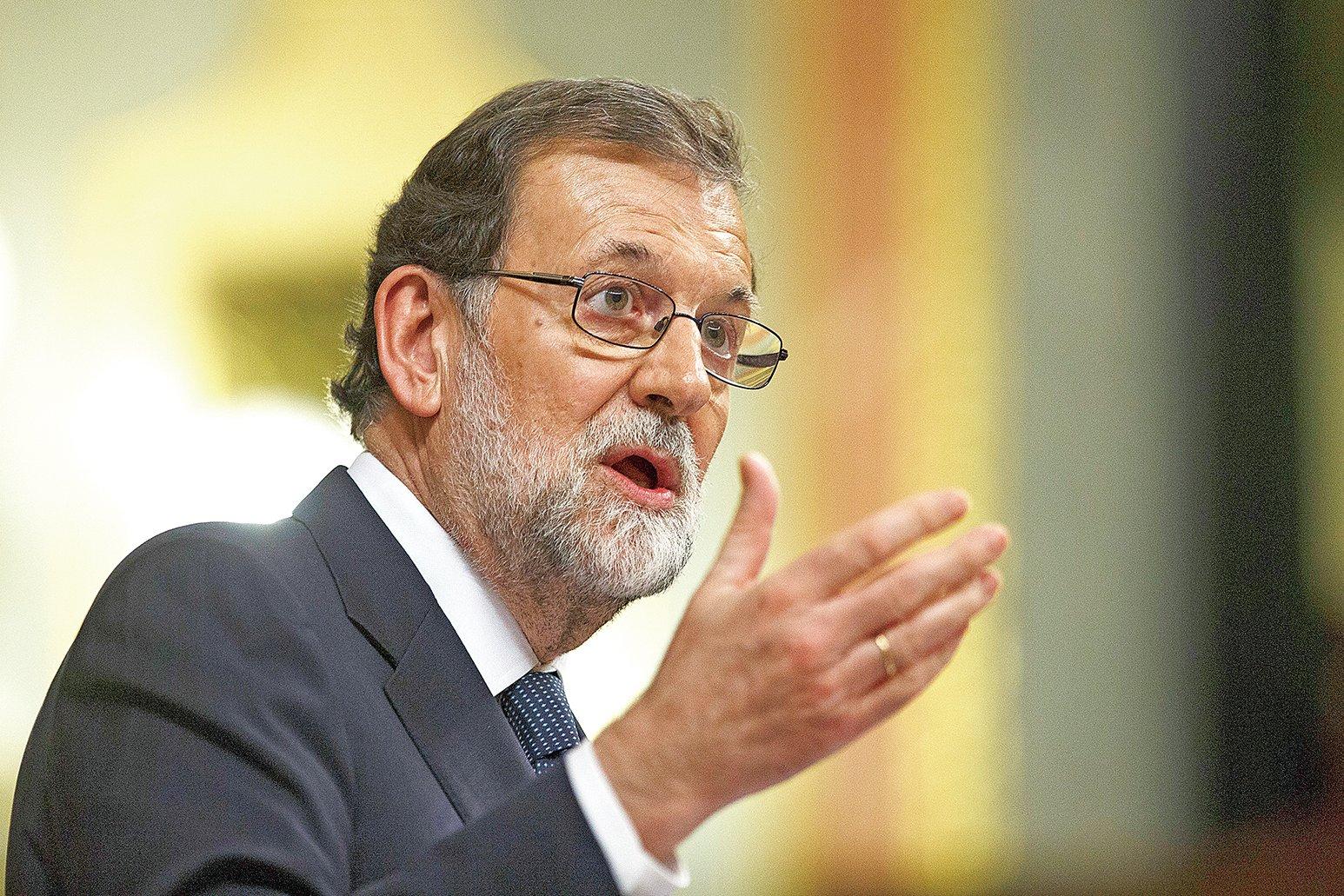 西班牙總理拉霍伊11日令加泰羅尼亞限期解釋清楚,到底獨立與否。 (Getty Images)