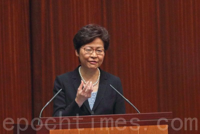 特首林鄭月娥發表首份施政報告後,昨日到立法會出席答問大會。(李逸/大紀元)