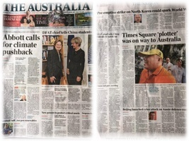 十九大前澳洲人報頭版內頁四篇再揭中共滲透