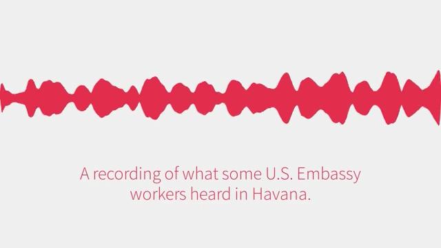 今年九月美國駐古巴大使館數十名員工遭神秘聲波攻擊,一個高音頻、類似蟋蟀叫聲的錄音帶近日曝光。(美聯社YouTube視像擷圖)