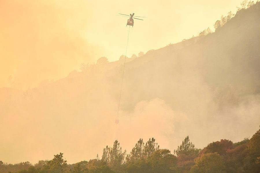 強風烈火中 加州直昇機救出42人6隻寵物
