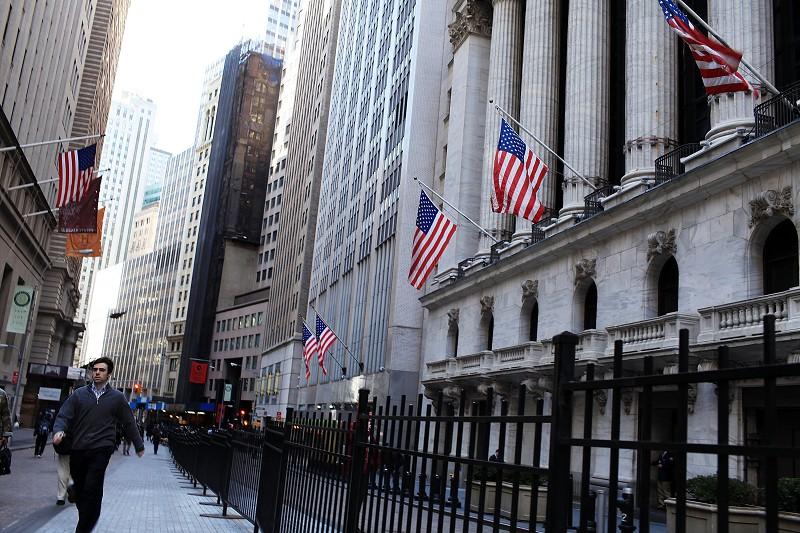 圖為美國紐約證交所。(Getty Images)