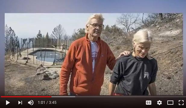 加州經歷了最慘烈的火災,帕斯柯夫婦藏在游泳池中6小時逃生。(視像擷圖)