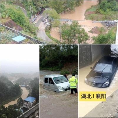 10月以來,強降雨及秋汛同時襲擊湖北,已造成5人死亡,逾300萬人受災。(合成圖片)