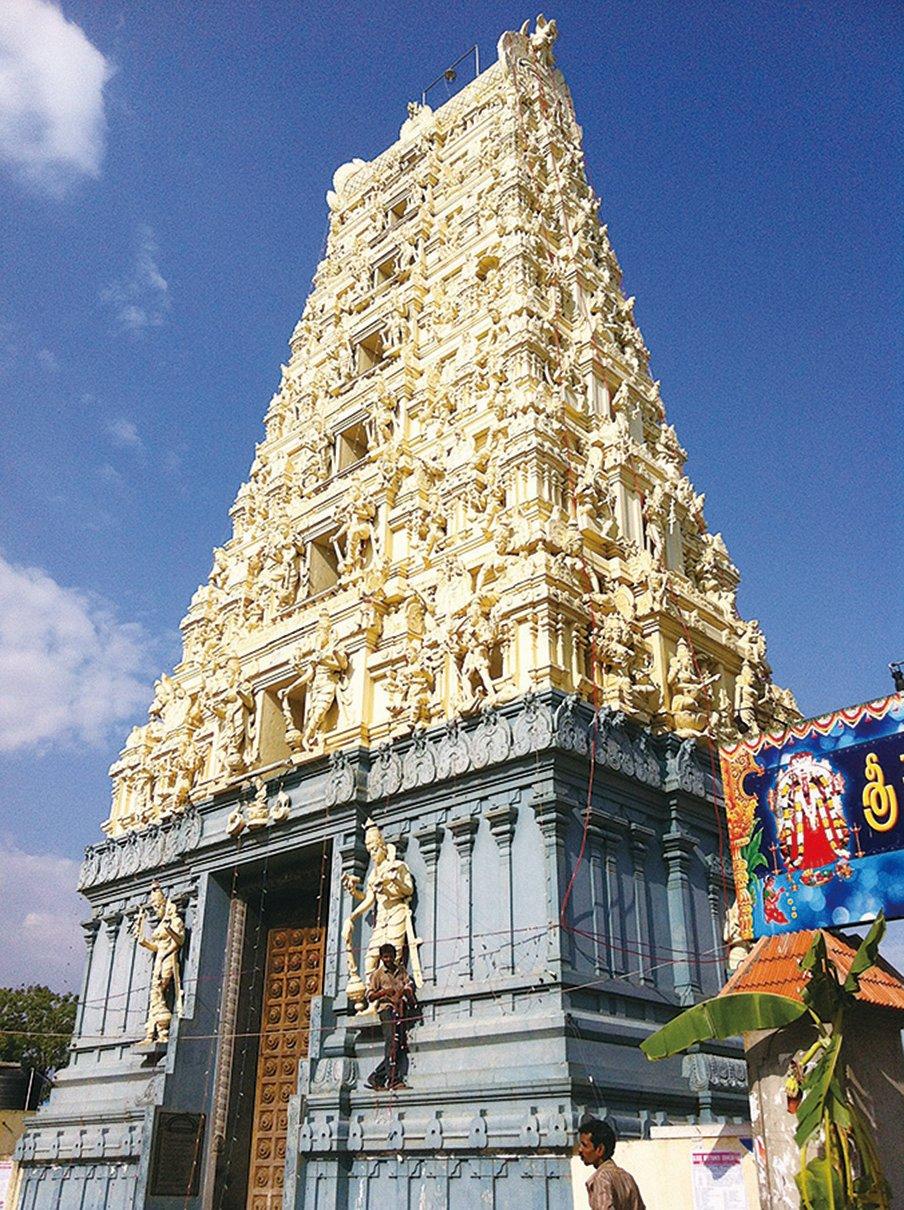 象牙塔為南印度傳統印度教廟宇的特殊造型。(鄭芝薇提供)