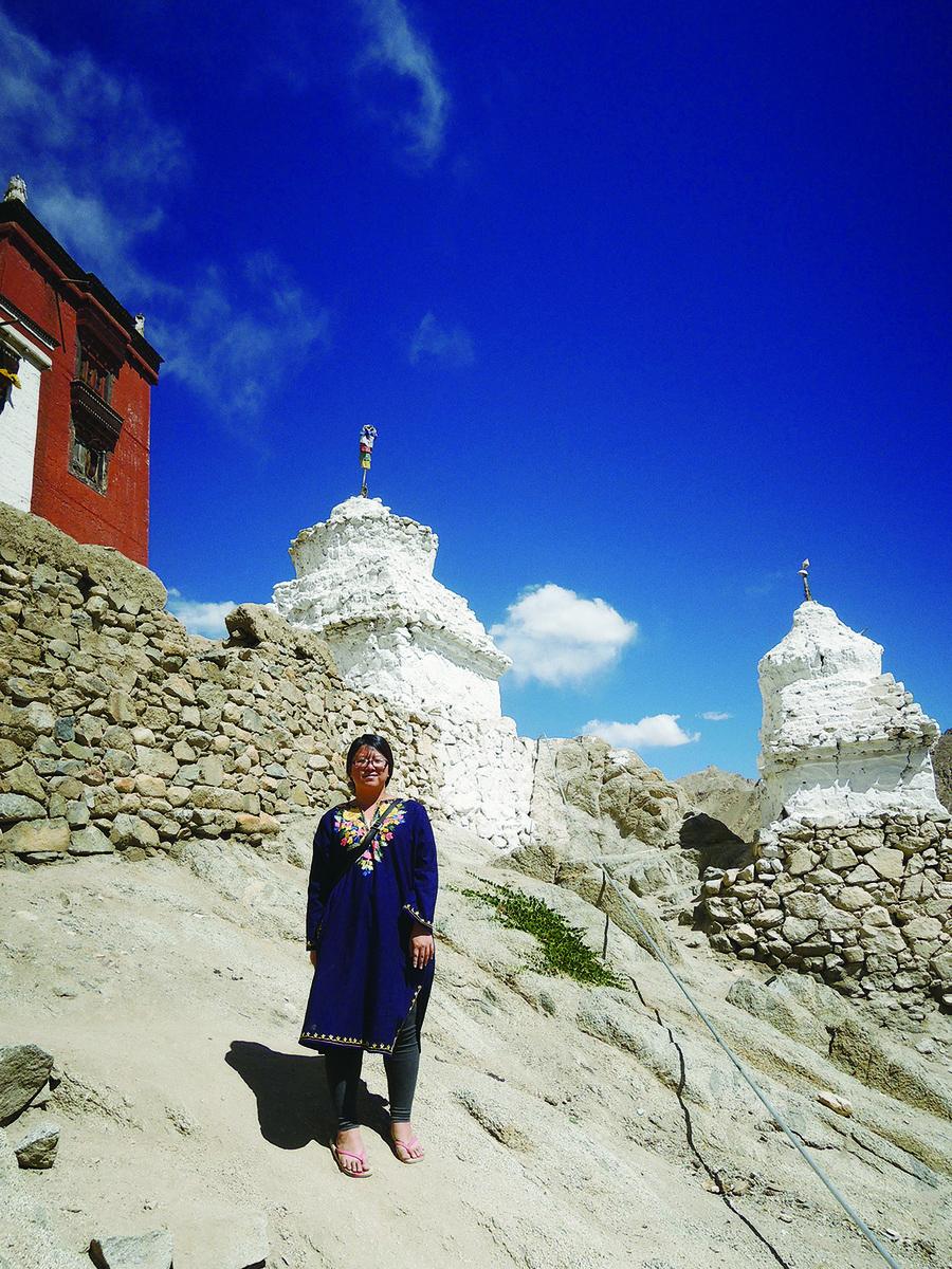 拉達克為藏傳佛教文化區,景色和文化都與西藏十分相近。(鄭芝薇提供)