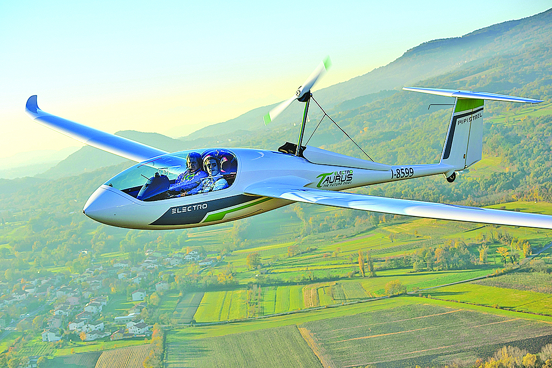 Pipistrel Taurus Electro雙人小型電動飛機。(Getty Images)