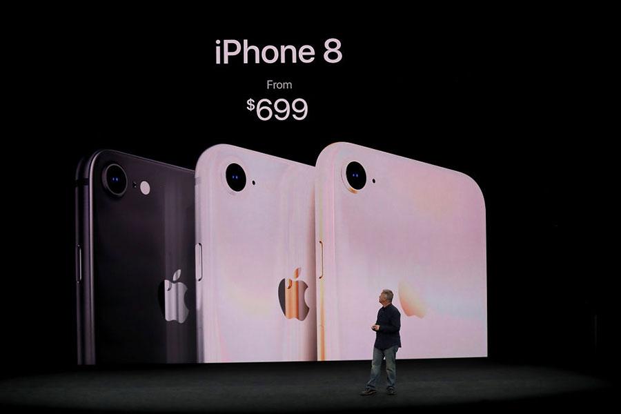 9月12日,蘋果發佈了iPhone 8。(Justin Sullivan/Getty Images)