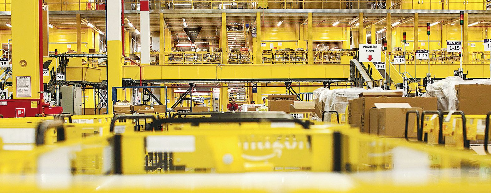 亞馬遜公司的貨倉。(大紀元資料圖片)