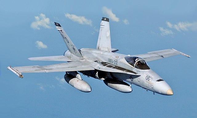 FA-18大黃蜂戰鬥攻擊機。(維基百科)