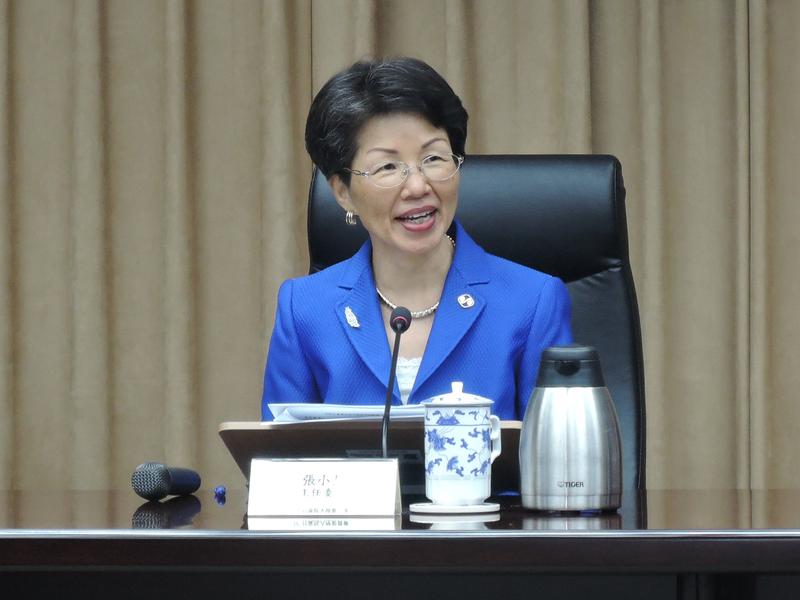 台灣行政院陸委會主任委員張小月。(中央社檔案照片)