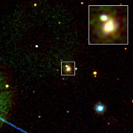 天文望遠鏡8月18日觀測到中子星相撞後產生「千倍新星」(kilonova)的光芒。(NASA)