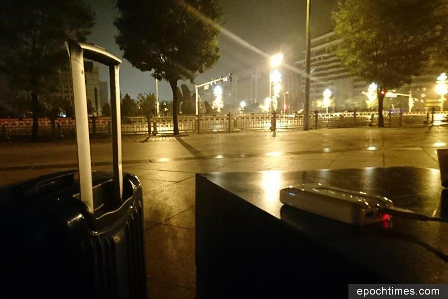中共十九大舉行前一天,俄羅斯青年西瑞爾淩晨抵達北京,遭遇被房東拒絕入住,半夜流浪街頭。(受訪者提供)