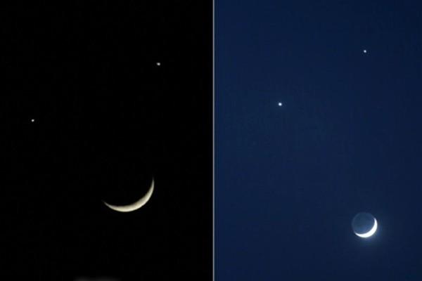 十九大召開前現「雙星伴月」異象,史書記載,「雙星伴月,無德者亡」。預示,中共高層將有大人物命危。(新唐人電視台提供)
