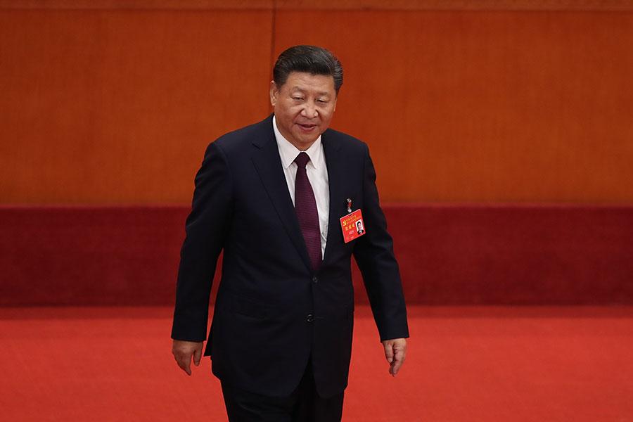 中共在十九屆二中全會上將修改憲法,中共國家主席任期制是否修改引外界關注。圖為習近平出席中共十九大。(Lintao Zhang/Getty Images)