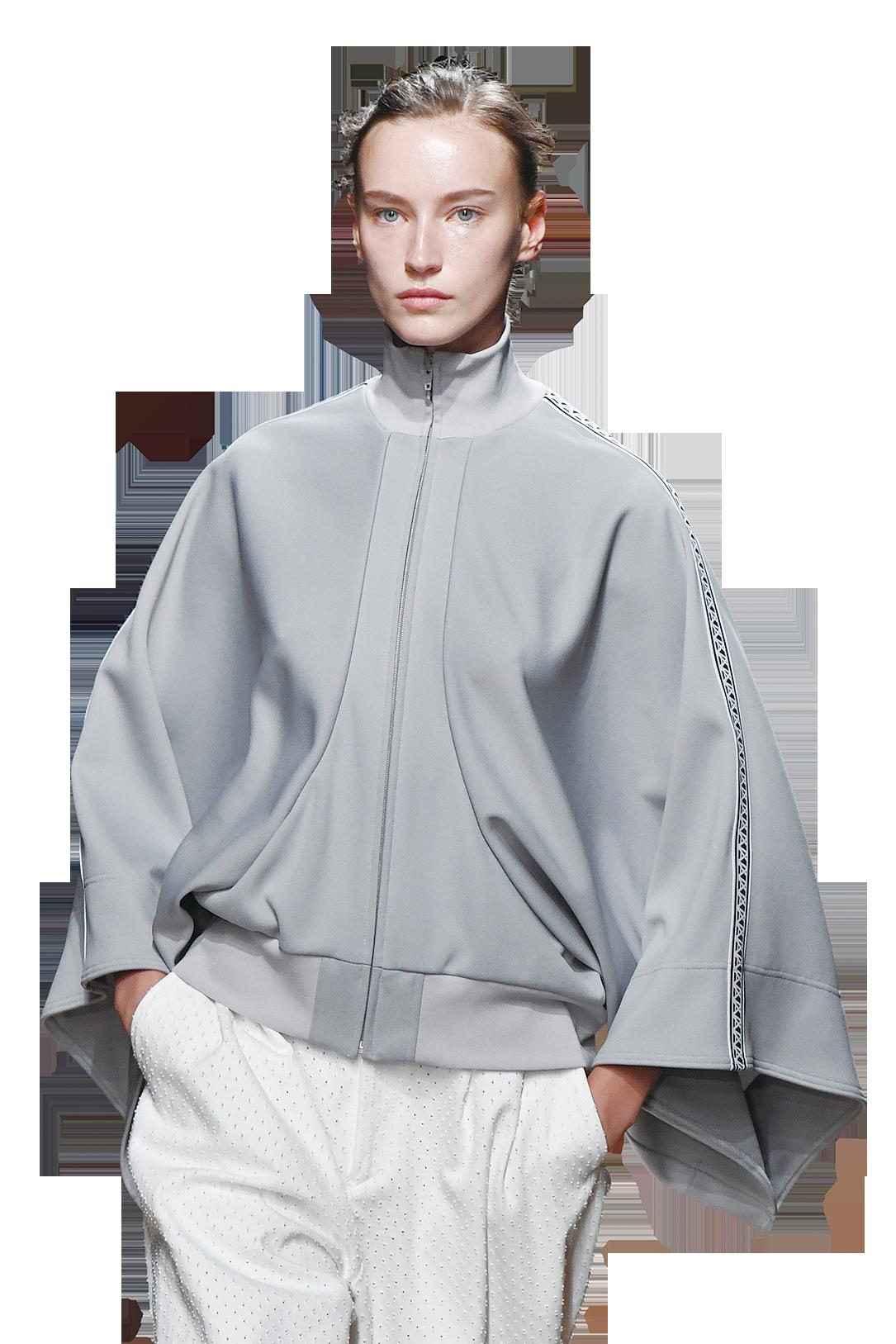 灰色加白色是傳統搭配,比起黑色,灰色跟白色相融更為明亮、輕盈,可以讓人看起來充滿生機與活力,(Getty images)