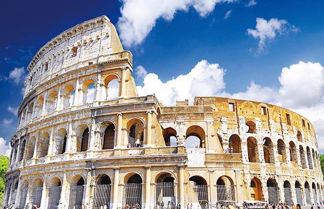 古羅馬鬥獸場(Colosseo,也稱競技場)。(Fotolia)