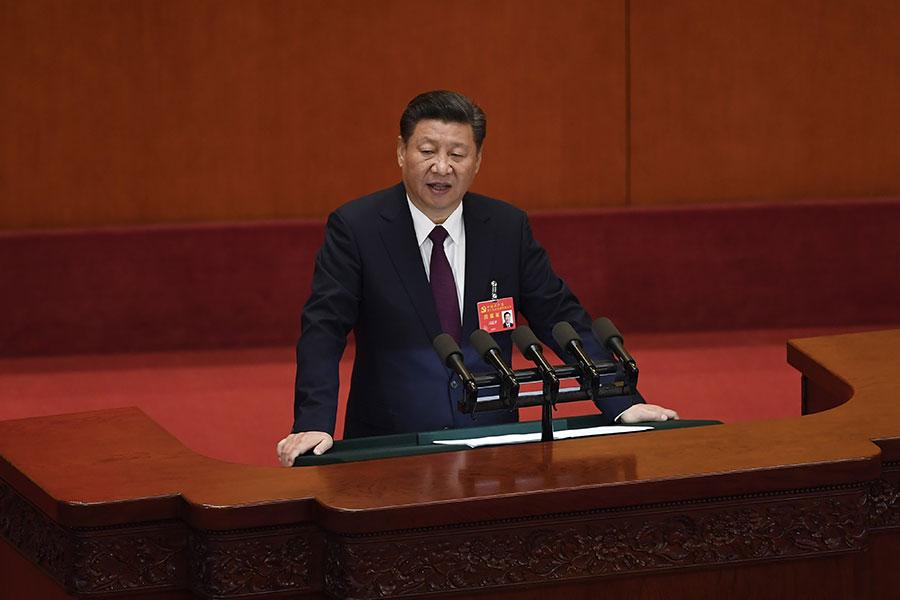 十九大中央委員會委員名單出爐後,外界發現其中有多個異常。(WANG ZHAO/AFP/Getty Images)