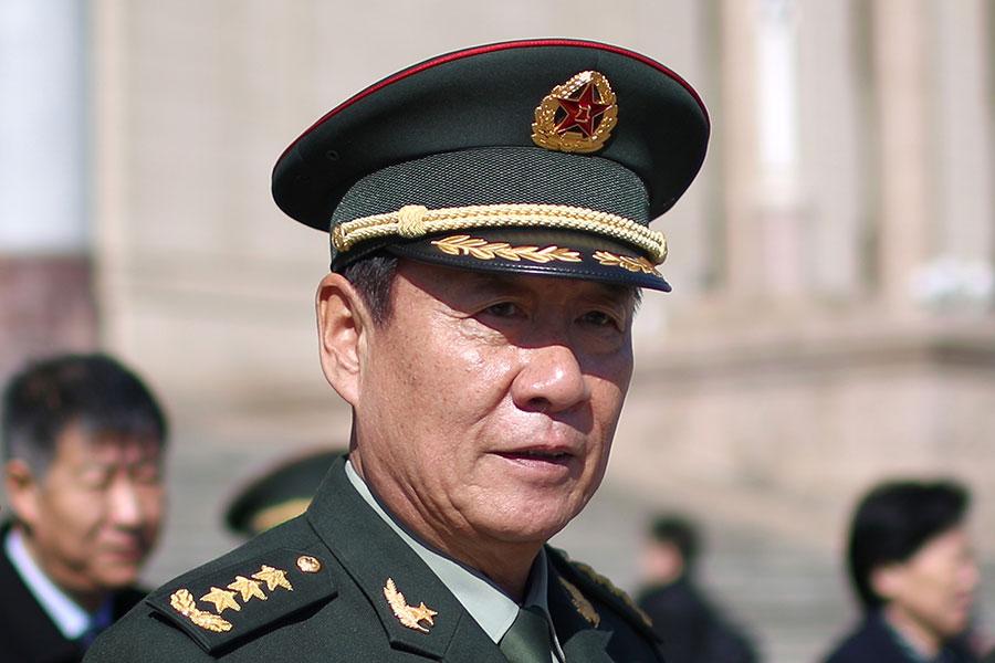 曾與谷俊山等江派軍中人馬進行殊死搏鬥的劉源,再次「當選」中共全國人大代表。(Feng Li/Getty Images)