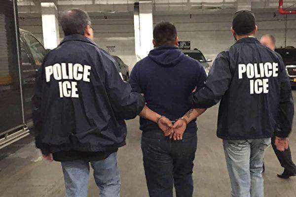 移民暨海關執法局(ICE)代理局長托馬斯・霍曼10月17日表示,ICE將加大職業移民執法力度四到五倍。(ICE)