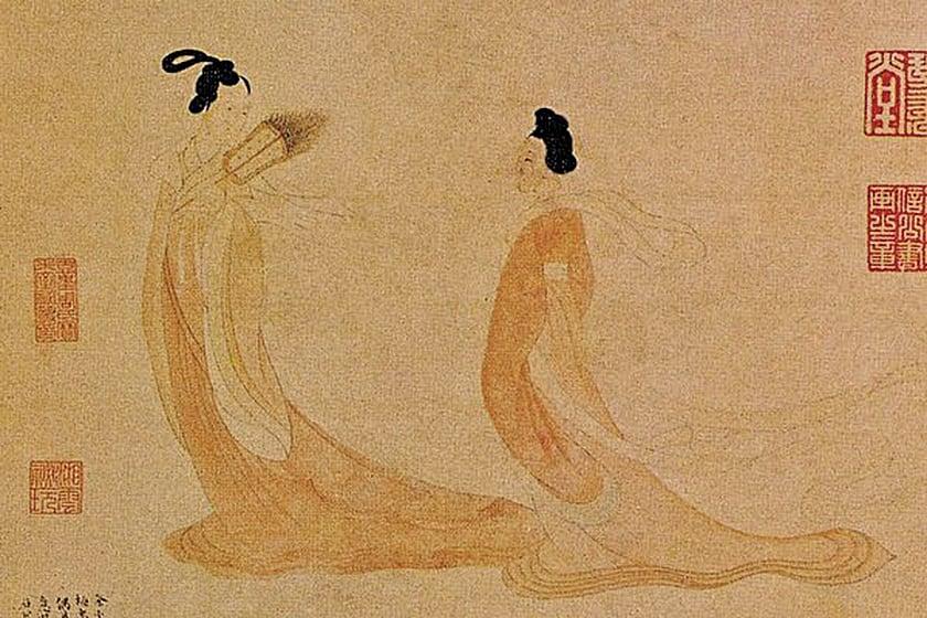 文徵明繪〈湘君湘夫人〉(公有領域)