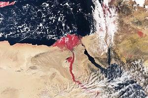 「血色尼羅河」衛星圖 引人關注宗教傳說