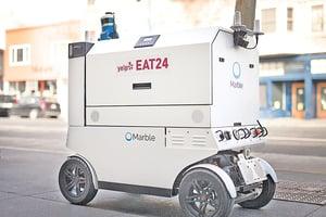 美國矽谷正流行機器人送貨