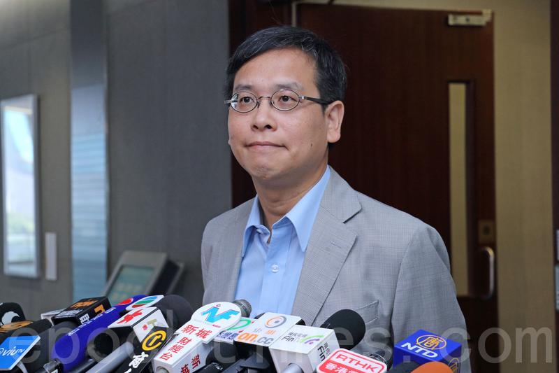葉建源批評大陸教育部部長陳寶生干預香港教育事務,又指其言論有指向性及不恰當。(蔡雯文/大紀元)