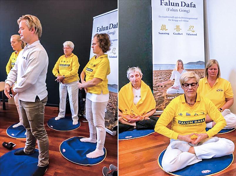 瑞典健康展法輪功受歡迎