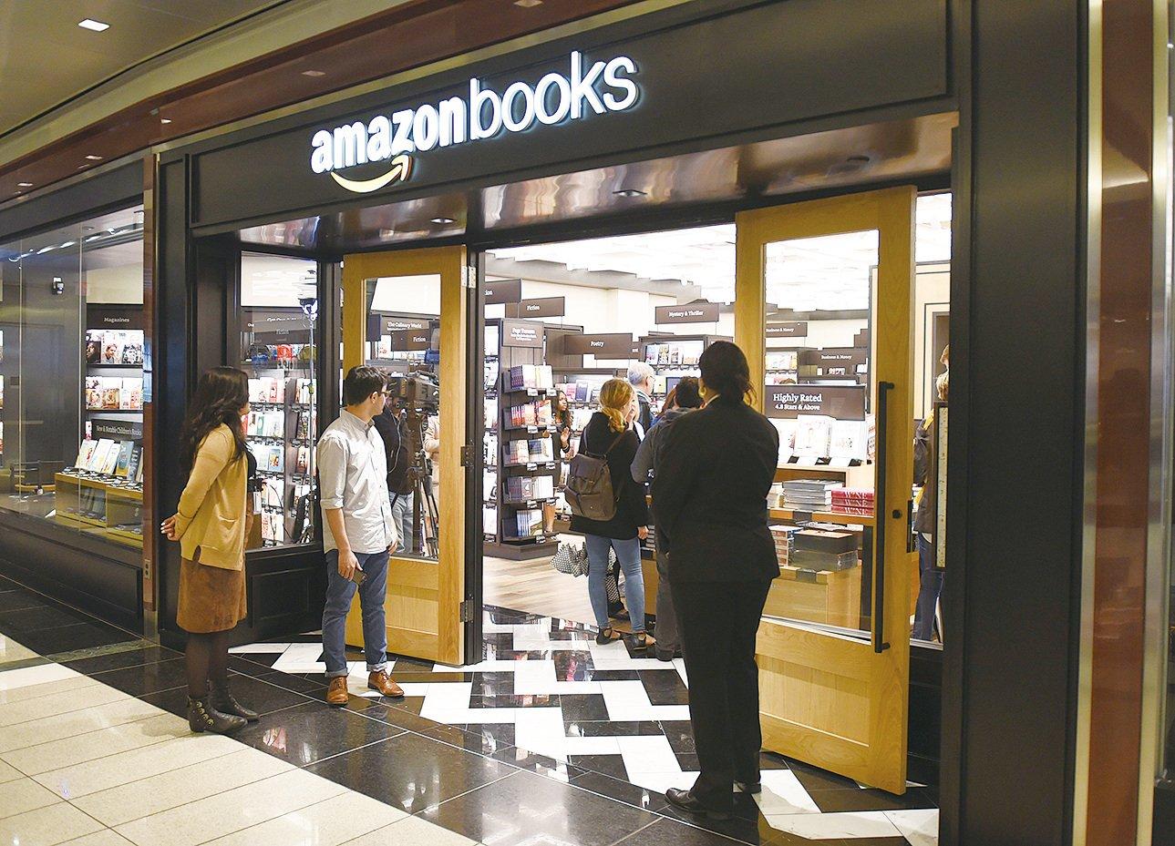 位於紐約曼哈頓的亞馬遜實體書店。(Getty images)