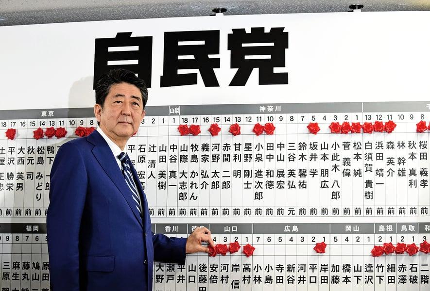 日本大選安倍大勝繼續執政