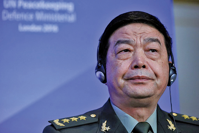 中共國防部長常萬全。(AFP)
