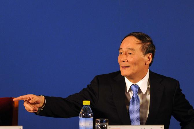 10月24日,中共官方公佈了新一屆中央委員會、中紀委委員會的名單,中紀委書記王岐山不在名單之內。(Getty Images)