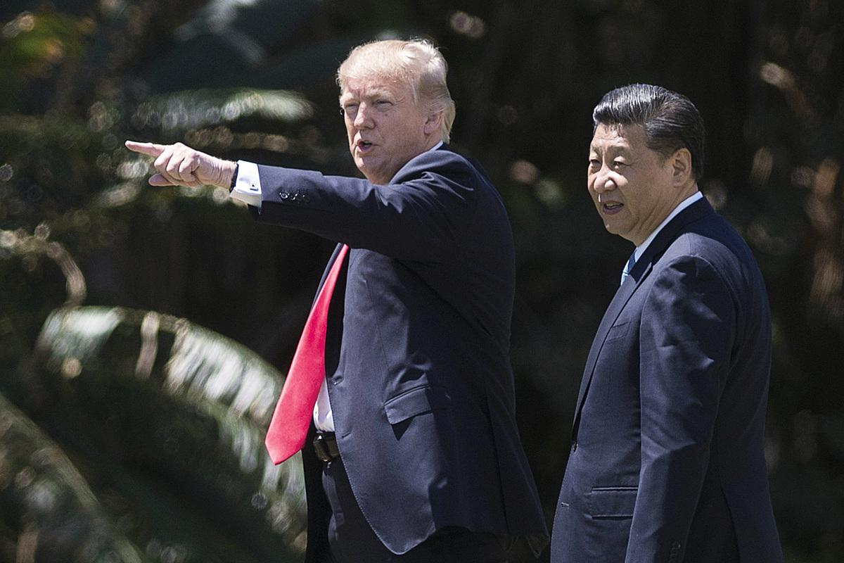 特朗普今年四月與習近平在美國會面。中美之間微妙的互動,雙邊關係微妙的轉變,都發生在這次會談之後。 (Getty Images)