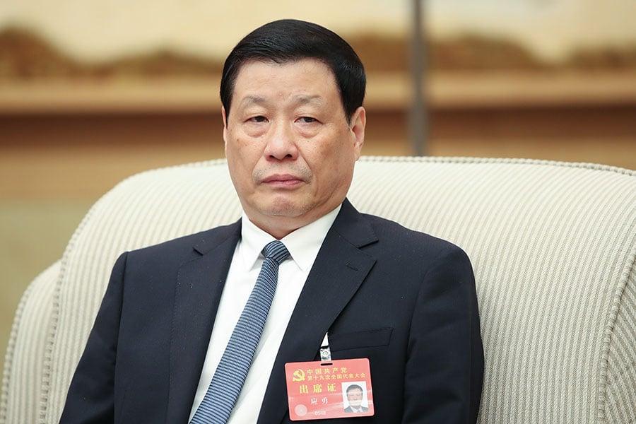 中共十九大25名政治局委員名單今日公佈,上海市長應勇並未出現在名單上。圖為應勇。(Lintao Zhang/Getty Images)