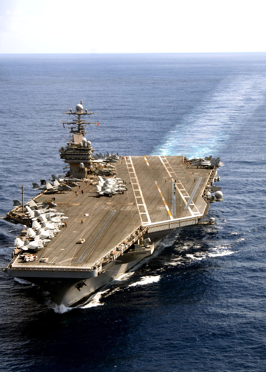 羅斯福號航母是美海軍第九航母打擊群的旗艦。(維基百科)