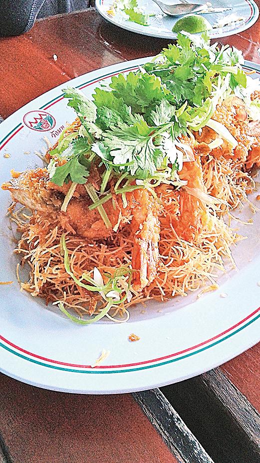 曼谷餐館中的海鮮菜式,多以煎炸為主。