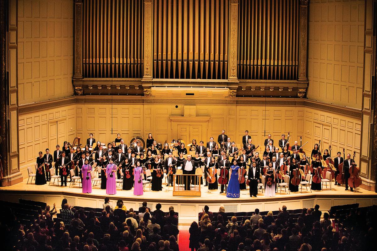 2017年10月13日,神韻交響樂團在波士頓交響樂廳演出。精彩演出完美落幕。(戴兵/大紀元)