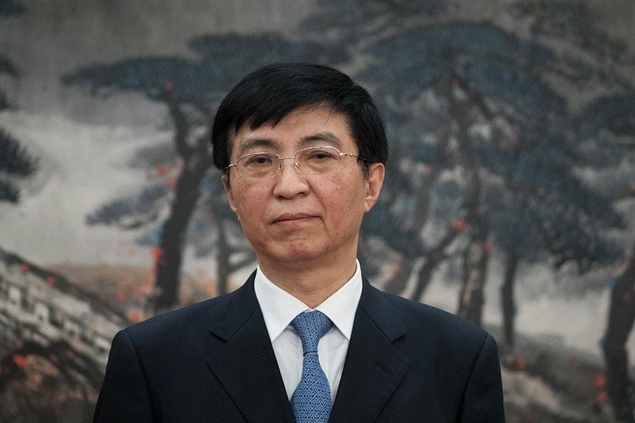 王滬寧進入常委,有專家認為很可能是因為他在推出習近平思想方面作過不小貢獻。(Lintao Zhang/Getty Images)