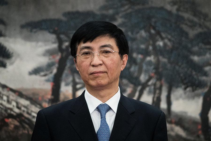 王滬寧入常替下劉雲山 外媒感意外