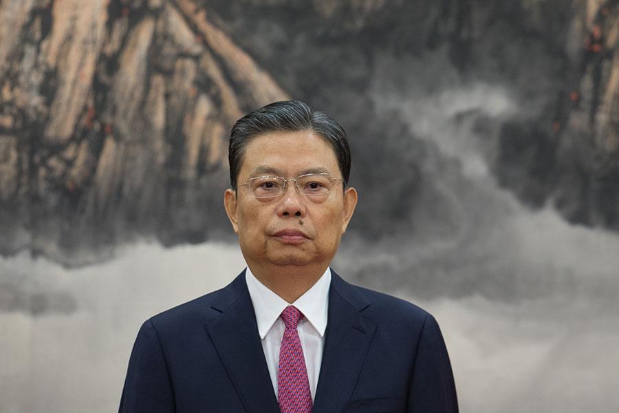 10月29日,趙樂際首次主持召開了十九屆中紀委常委會第一次會議。會上,趙樂際稱要在反腐敗鬥爭中開創新局面。(Lintao Zhang/Getty Images)