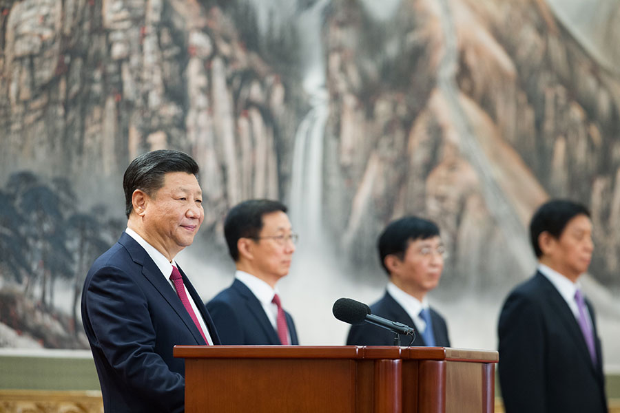 「十九大」上中共高層的博弈更加激烈。(Lintao Zhang/Getty Images)