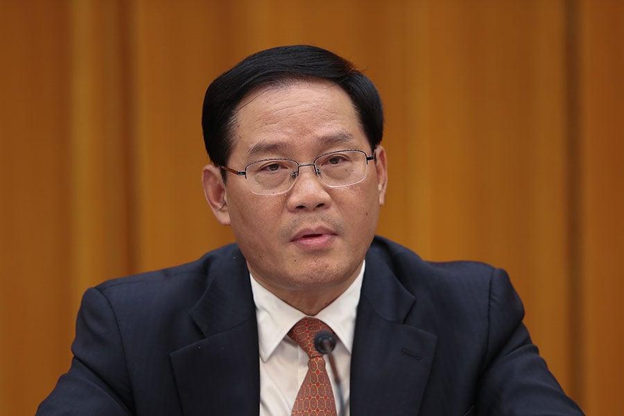 中共上海市委書記李強在中共兩會上表示,將建立長三角發展綜合辦公室。(Lintao Zhang/Getty Images)