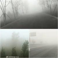 北京大霧能見度低 市民:明明是霾非說是霧