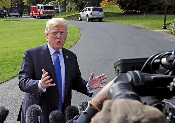 特朗普回應指抹黑事件是個「恥辱」,民主黨自編自導的通俄門騙局,正在自食惡果。(Getty Images)